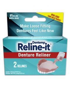 Dentemp Denture Reliner makes denture well-fit not loose no glue