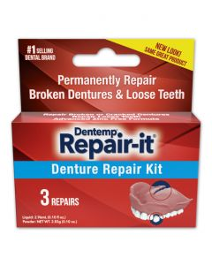 Dentemp Denture Repair Kit Braces Dentures No Glue No Zinc