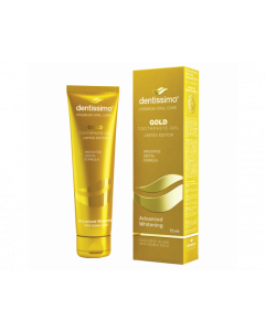 Dentissimo Gold Whitening Toothpaste Prevents Tartar Plaque Infections