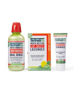 The Breath Co. Dry Mouth Kit Oral Dry Mouth Saliva pH-neutral